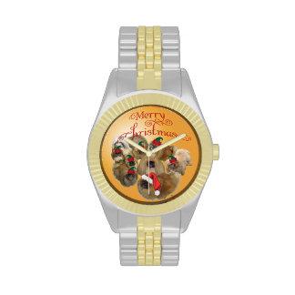 Ornamento del grupo de Pekingese Reloj De Mano