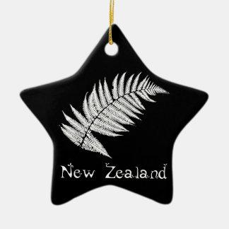 Ornamento del helecho de plata de Nueva Zelanda Adorno Navideño De Cerámica En Forma De Estrella