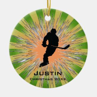 Ornamento del hockey adorno de navidad
