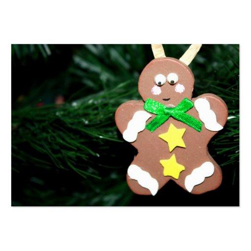 Ornamento del hombre de pan de jengibre tarjetas de visita