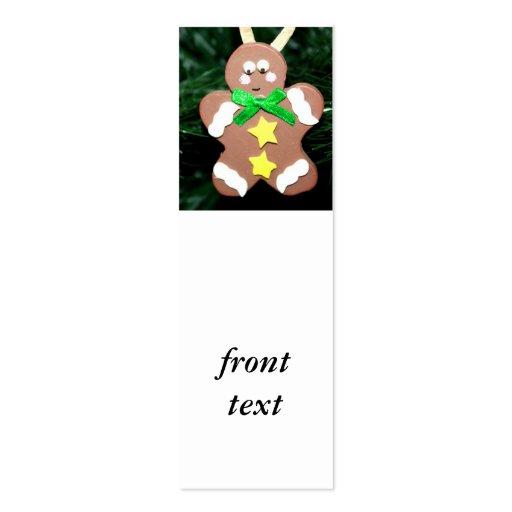 Ornamento del hombre de pan de jengibre plantilla de tarjeta personal