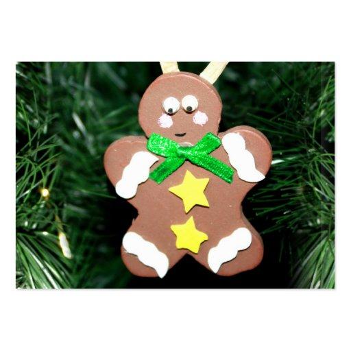 Ornamento del hombre de pan de jengibre plantillas de tarjetas de visita