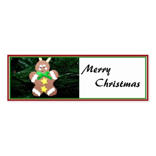 Ornamento del hombre de pan de jengibre tarjeta de visita