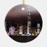 Ornamento del horizonte de la ciudad adornos de navidad