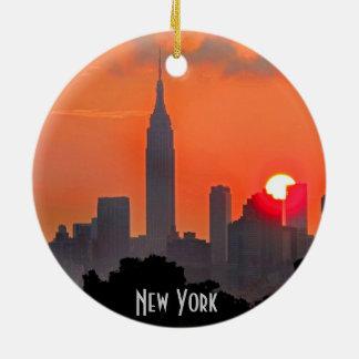 Ornamento del horizonte de Nueva York Manhattan Adorno De Reyes