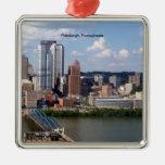 Ornamento del horizonte de Pittsburgh, Adorno Cuadrado Plateado