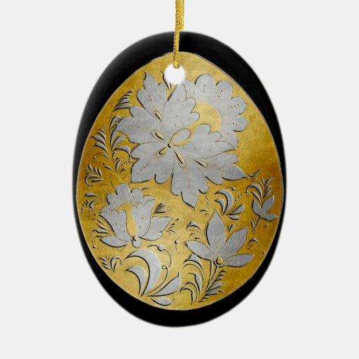 Ornamento del huevo - arte popular ruso 26 - BB Ornato
