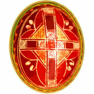 Ornamento del huevo de Pascua del arte popular Adorno Fotoescultura