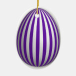 Ornamento del huevo - modelo de la raya - 1 adorno de navidad