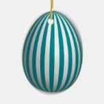 Ornamento del huevo - modelo de la raya - 3 ornamento de navidad