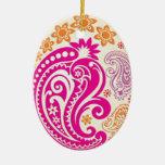 Ornamento del huevo - Paisleys en colores pastel 1 Adorno De Reyes