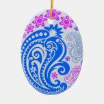 Ornamento del huevo - Paisleys en colores pastel 5 Ornamentos De Reyes
