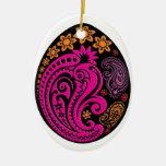 Ornamento del huevo - Paisleys en colores pastel Ornamentos De Navidad