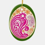 Ornamento del huevo - Paisleys en colores pastel - Ornamentos De Navidad