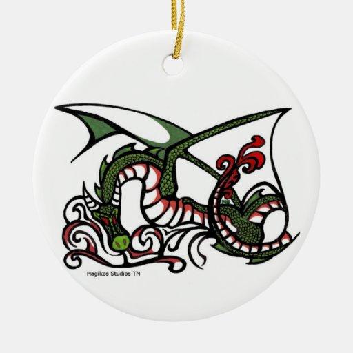 Ornamento del humo del dragón adorno de reyes