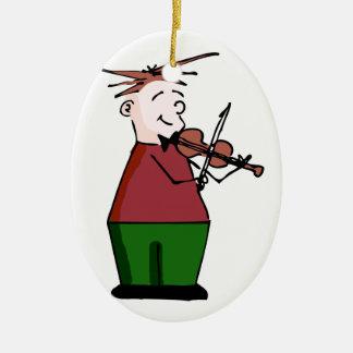 Ornamento del individuo del violín del día de fies ornaments para arbol de navidad