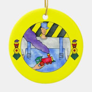 Ornamento del ingeniero del tren ornamentos para reyes magos