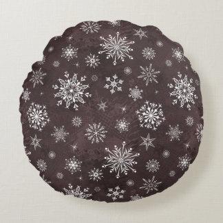 Ornamento del invierno cojín redondo