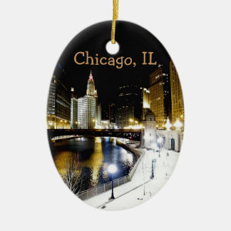 Ornamento del invierno de Chicago Ornamento Para Arbol De Navidad