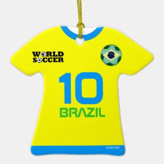 Ornamento del jersey de fútbol del mundial del adornos de navidad