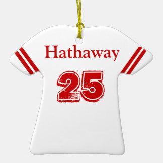 Ornamento del jersey de los deportes ornamento para arbol de navidad