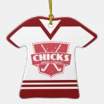Ornamento del jersey de los polluelos del hockey h adorno