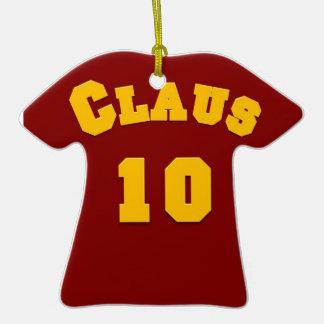 Ornamento del jersey del fútbol de Claus 10 Ornamentos De Reyes Magos