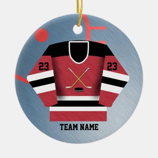 Ornamento del jersey del jugador de hockey adorno