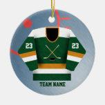 Ornamento del jersey del jugador de hockey adornos