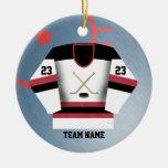 Ornamento del jersey del jugador de hockey ornamento para arbol de navidad