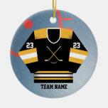 Ornamento del jersey del jugador de hockey adorno de navidad