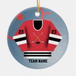 Ornamento del jersey del jugador de hockey ornamentos para reyes magos