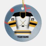 Ornamento del jersey del jugador de hockey adornos de navidad