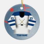 Ornamento del jersey del jugador de hockey adorno para reyes