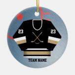 Ornamento del jersey del jugador de hockey ornamento de navidad