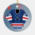 Ornamento del jersey del jugador de hockey ornatos