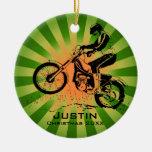 Ornamento del jinete de la bici de la suciedad ornamento de reyes magos