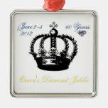 Ornamento del jubileo de diamante del Queens 2012 Ornamentos De Reyes