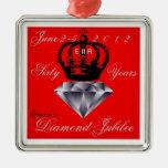 Ornamento del jubileo de diamante del Queens Adornos De Navidad