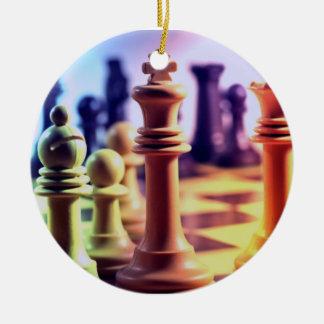 Ornamento del juego de ajedrez ornamentos de reyes magos