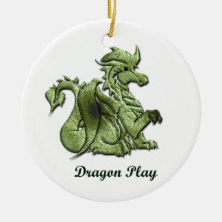 Ornamento del juego del dragón ornamento de navidad