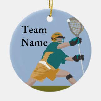 ornamento del jugador del lacrosse ornamentos de reyes magos
