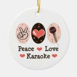 Ornamento del Karaoke del amor de la paz Ornamento De Reyes Magos