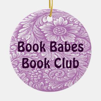 Ornamento del libro y del club de lectura adorno redondo de cerámica