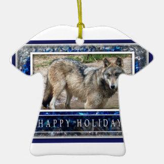 Ornamento del lobo gris o de la camisa del navidad ornamentos de reyes
