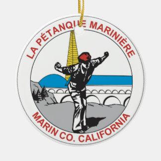 Ornamento del logotipo de la LPM Adorno Navideño Redondo De Cerámica