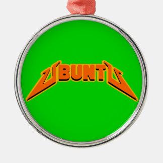 Ornamento del logotipo de la parodia de la roca de adorno navideño redondo de metal