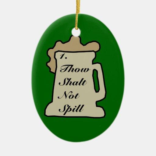 Ornamento del mandamiento 1 de la cerveza ornamento de navidad