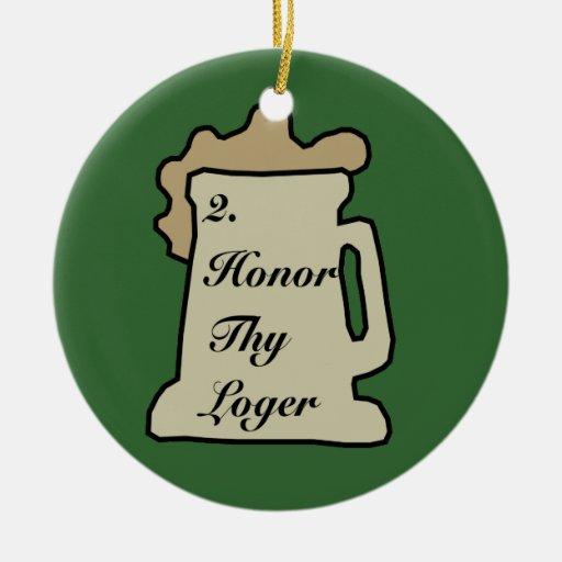 Ornamento del mandamiento 2 de la cerveza ornamentos de navidad