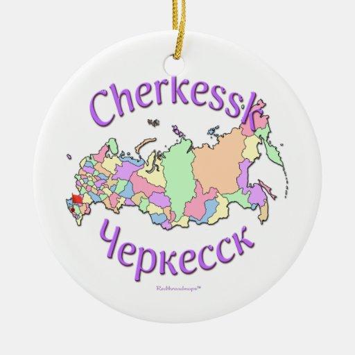 Ornamento del mapa de Cherkessk Rusia Ornamentos De Reyes Magos